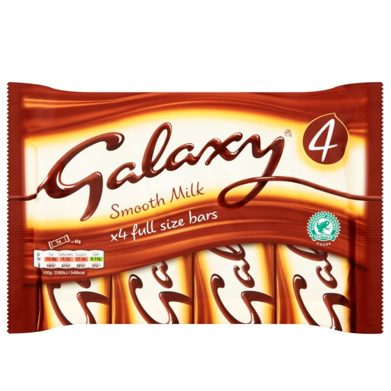 Galaxy Chocolate Bars 4 x42g