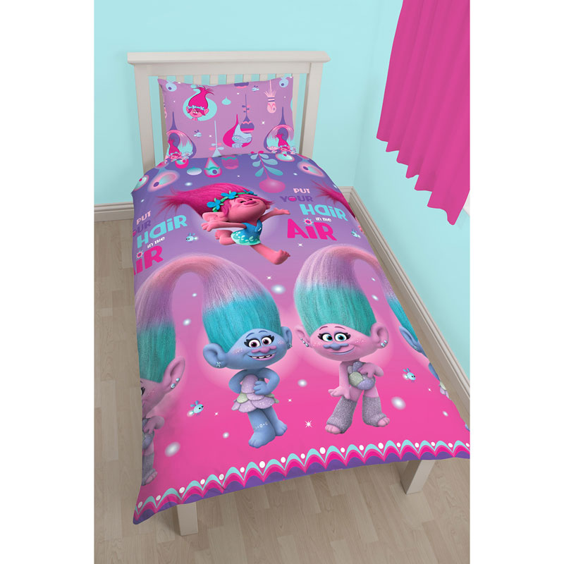 Trolls Single Duvet Set Put Your Hair In The Air Bedding
