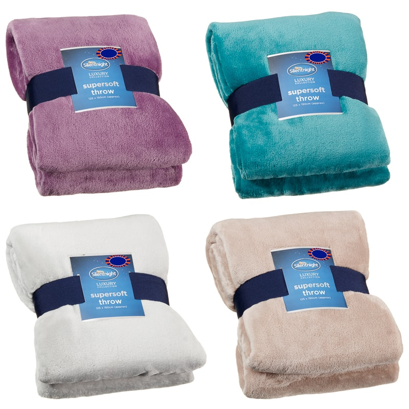 Silent Night Supersoft Throw Home Soft Furnishings B Amp M