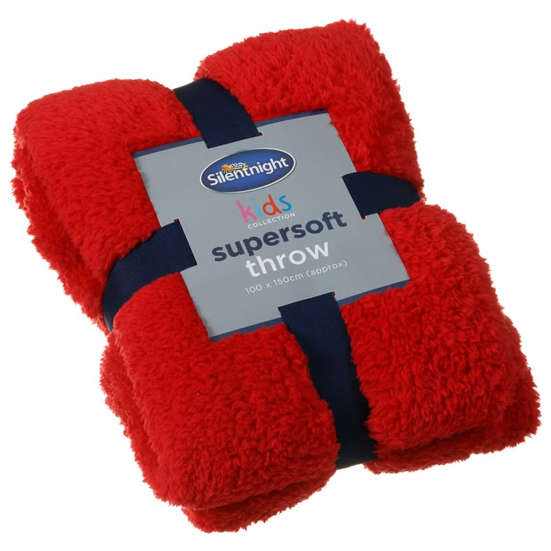Silentnight Kids Collection Supersoft Throw - Red