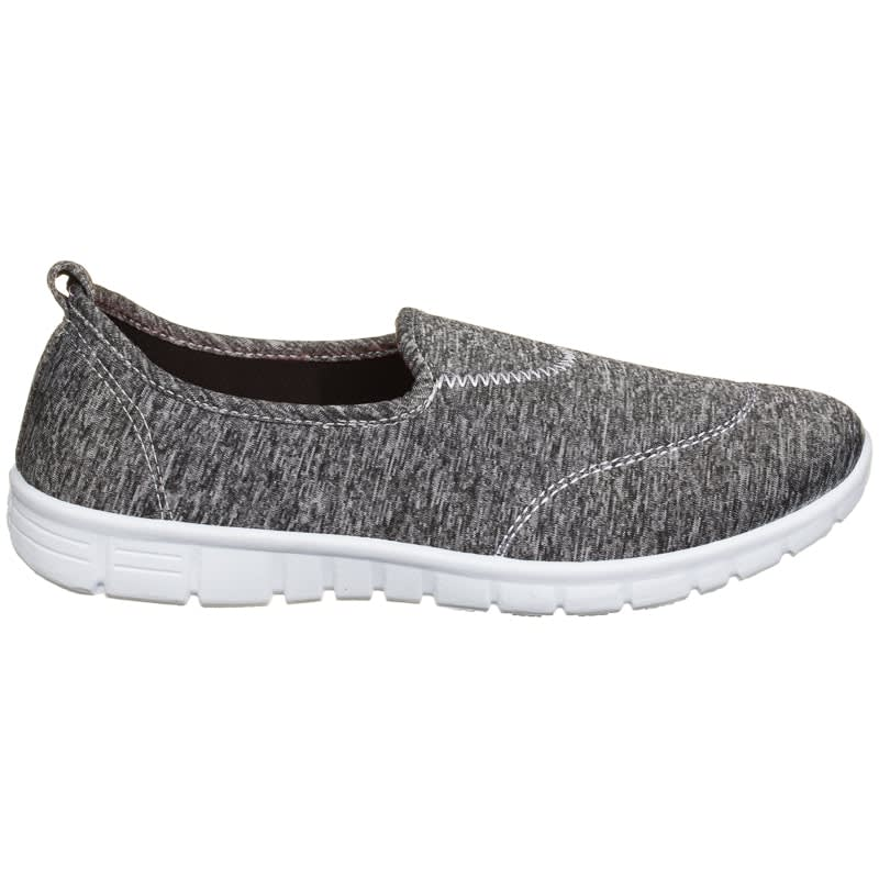 Ladies Active Walker Shoes - Grey