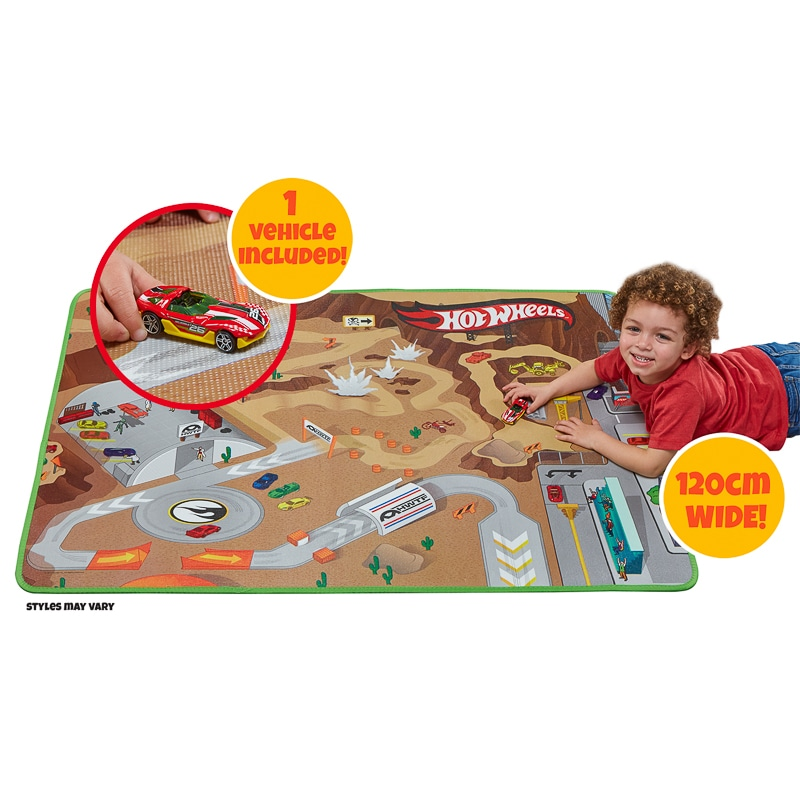 Hot Wheels Play Mat And Vehicle