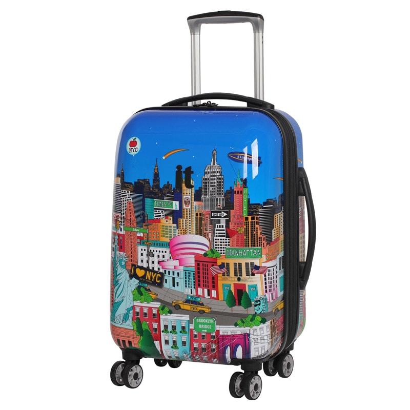 sovereign suitcase 54cm new york printed luggage b m. Black Bedroom Furniture Sets. Home Design Ideas