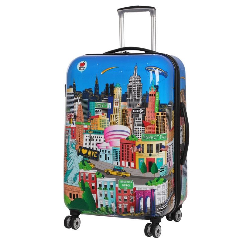 sovereign suitcase 69cm new york printed luggage b m. Black Bedroom Furniture Sets. Home Design Ideas