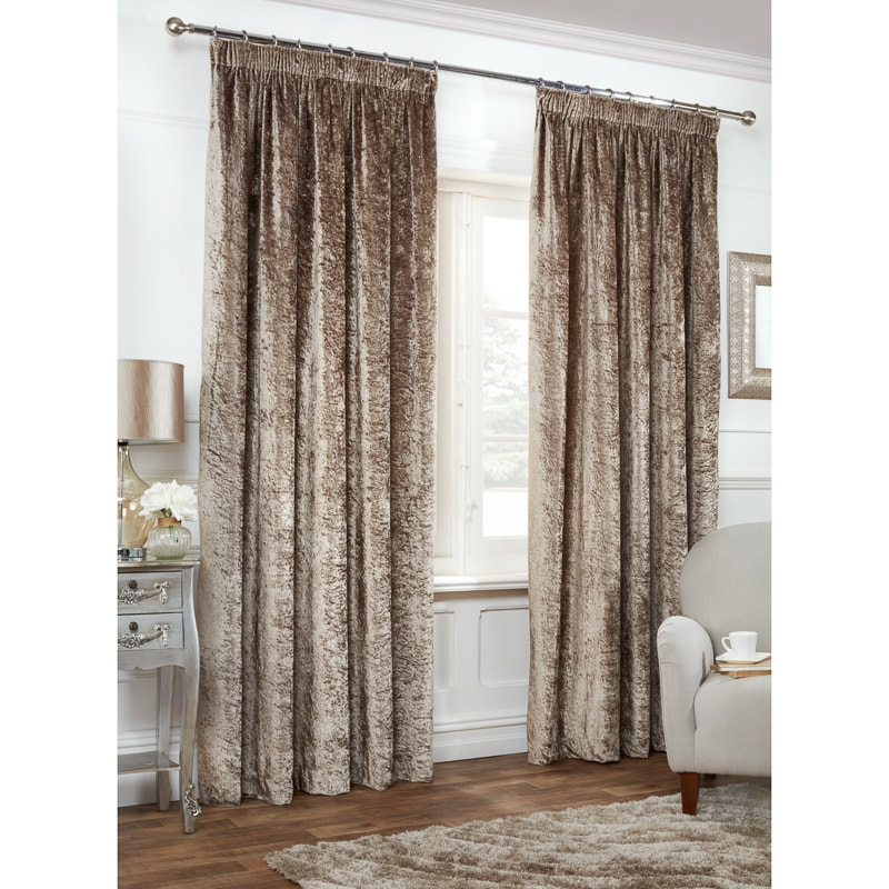 versailles crushed velvet 3 tape fully lined curtain 90 x. Black Bedroom Furniture Sets. Home Design Ideas