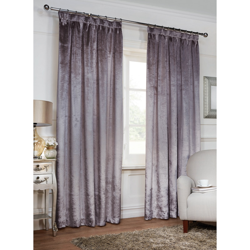Versailles Crushed Velvet 3 Quot Tape Fully Lined Curtain 90 X