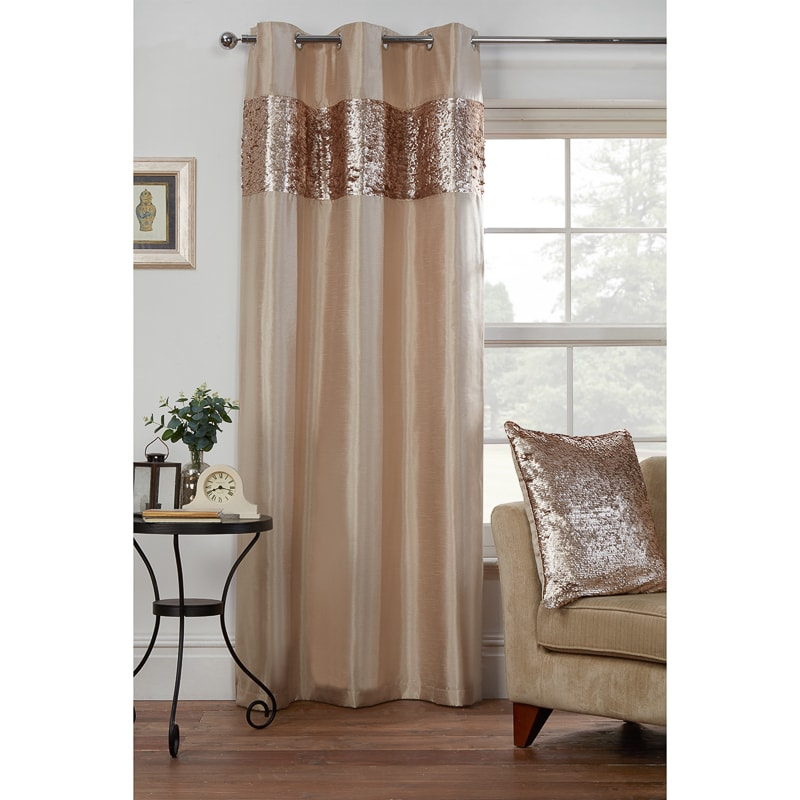 Sienna Sequin Top Border Panel 54 X 86 Quot Curtains B Amp M