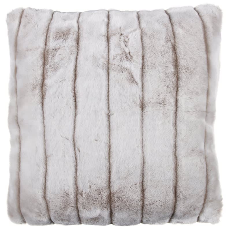 pillow black item case fur covers cushion decorative real fox home