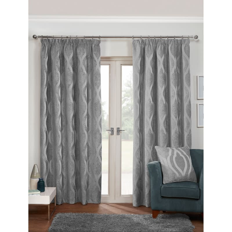 Belgravia Chenille Fully Lined Curtain 66 X 90 Quot Curtains