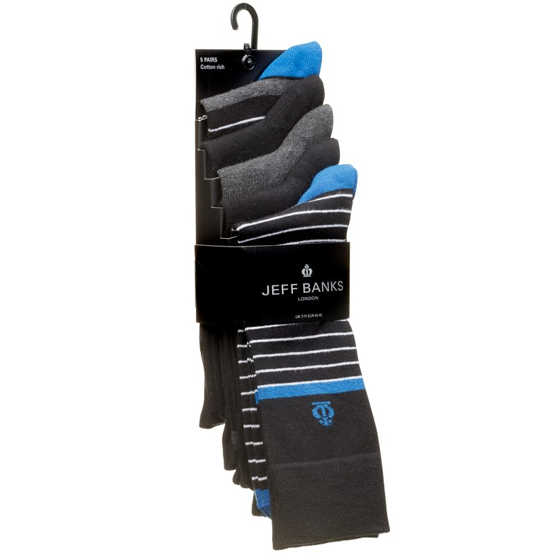 Jeff Banks Striped Socks 5pk