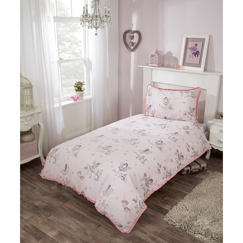 Kids Fairy Single Duvet Set Pink Girls Bedding B Amp M