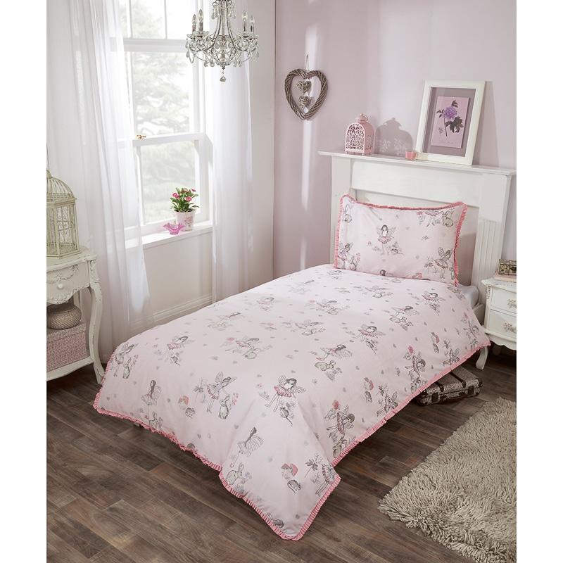 Kids Fairy Single Duvet Set Pink Girls Bedding B Amp M