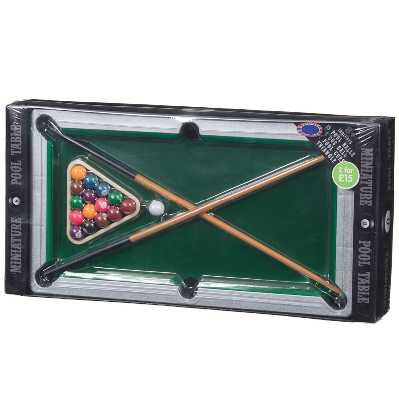 Home Toys & Games 2 for £15 Deluxe Miniature Pool Table