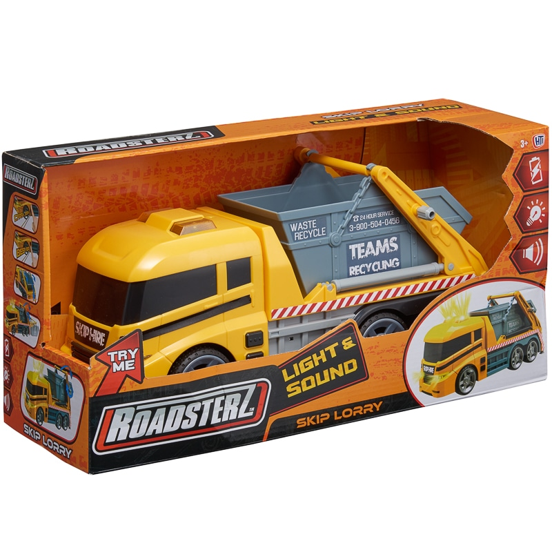 Roadsterz Light & Sound Vehicles - Skip Lorry