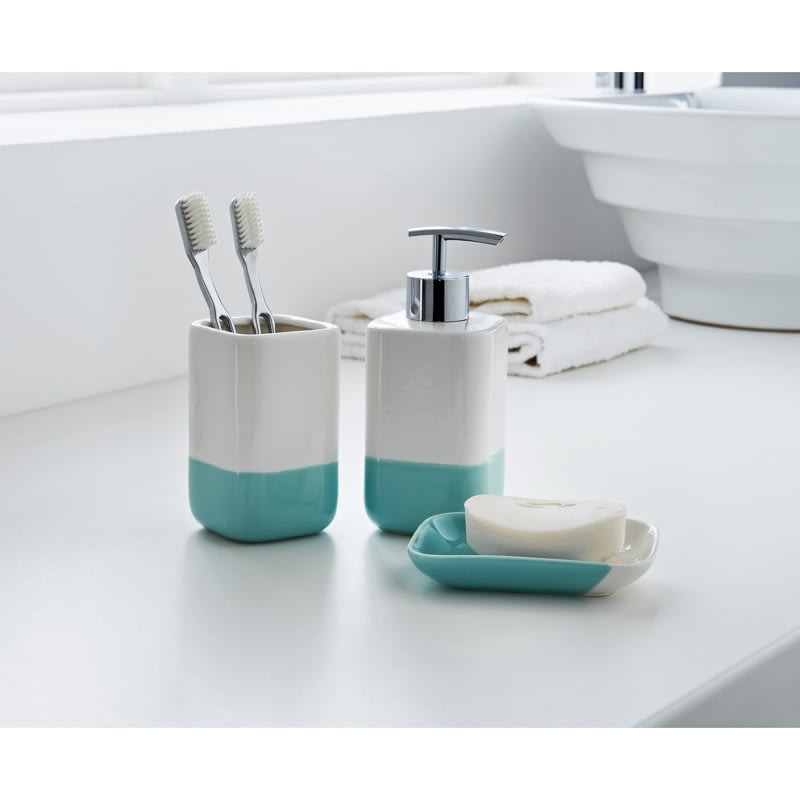 Bathroom Accessories Set Of Dipped Coloured Bathroom Set 3pc Home Bathroom B M