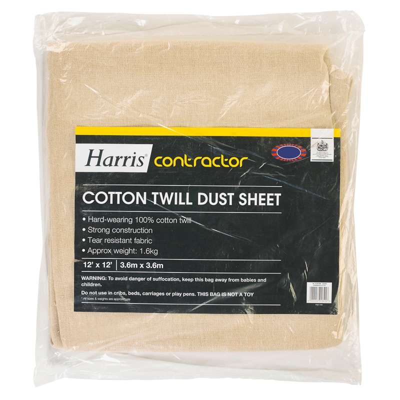 Harris Contractor Cotton Twill Dust Sheet