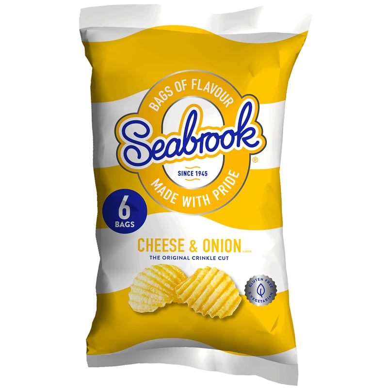 Seabrook Crisps 6pk Cheese Amp Onion Crisps B Amp M