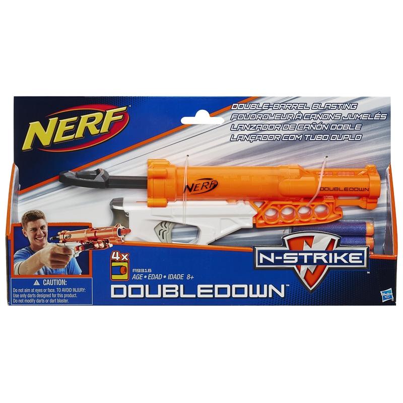 Nerf N-Strike DoubleDown Blaster | Toys | Nerf Guns - B&M