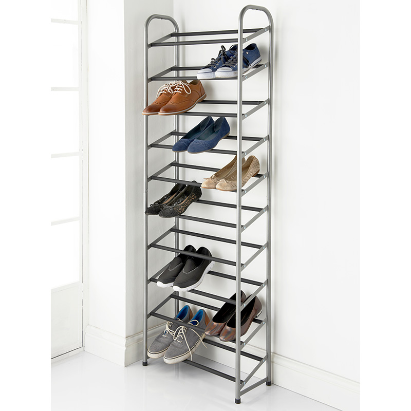 Tall Shoe Rack Shelving Storage Furniture B Amp M Stores