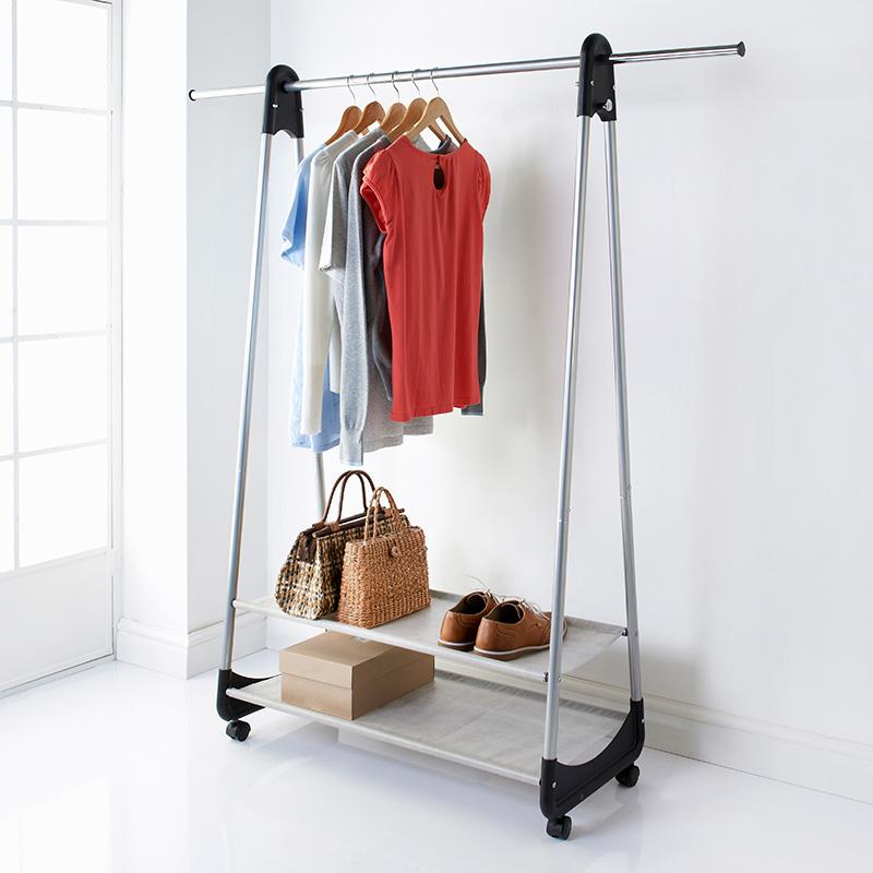 2 Shelf Garment Rail Storage Furniture B Amp M Stores