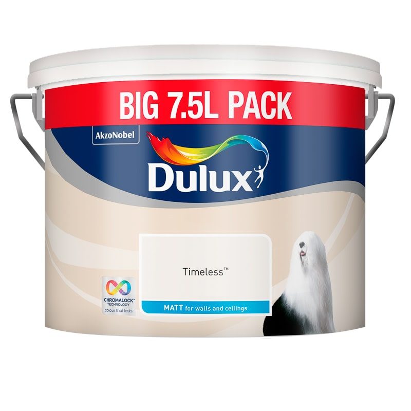 Dulux Matt Emulsion Paint 7.5L - Timeless
