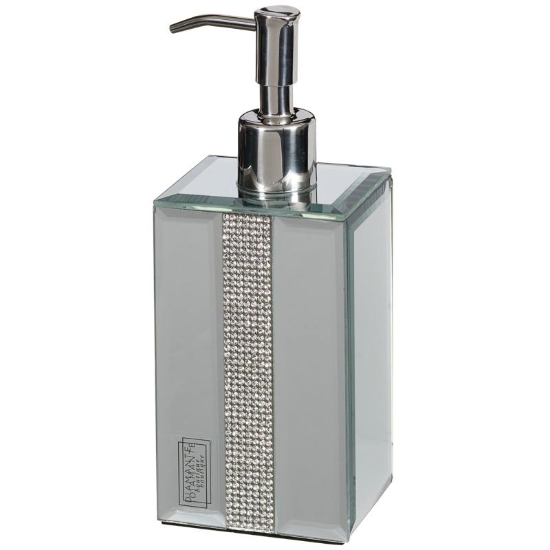 Mirrored Diamante Soap Dispenser Home Bathroom B Amp M
