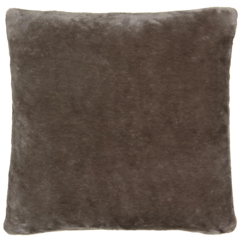silentnight faux fur cushion stone home decor b m stores. Black Bedroom Furniture Sets. Home Design Ideas