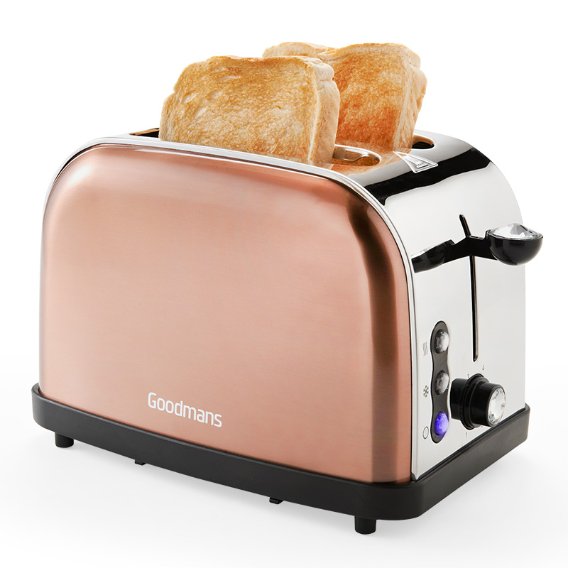 Goodmans 2 Slice Diamond Copper Toaster Kitchen B Amp M