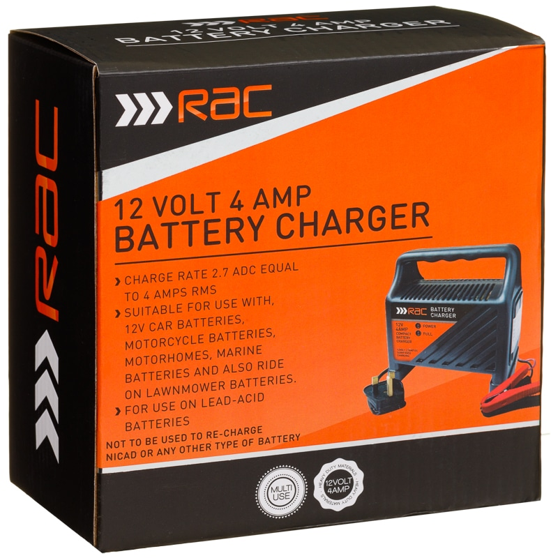 Rac 4 Amp Battery Charger Car Accessories Car Battery