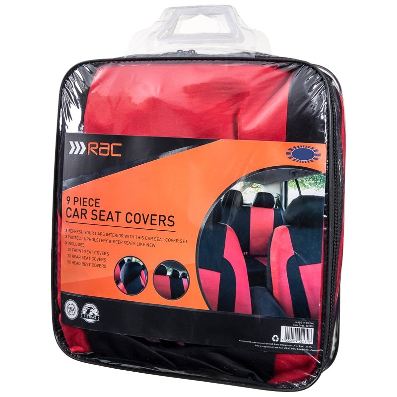 323975 RAC Car Seat Cover Red