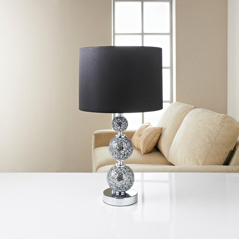 Wondrous Ella Mosaic Table Lamp Black Interior Design Ideas Clesiryabchikinfo