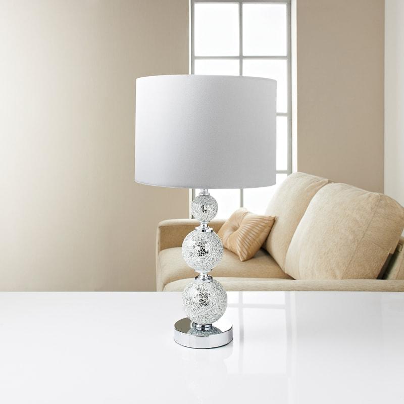 Groovy Ella Mosaic Table Lamp White Interior Design Ideas Clesiryabchikinfo