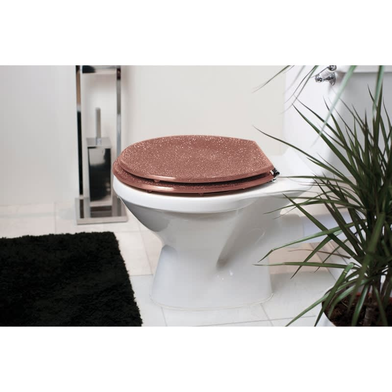 Glitter Toilet Seat - Rose Gold