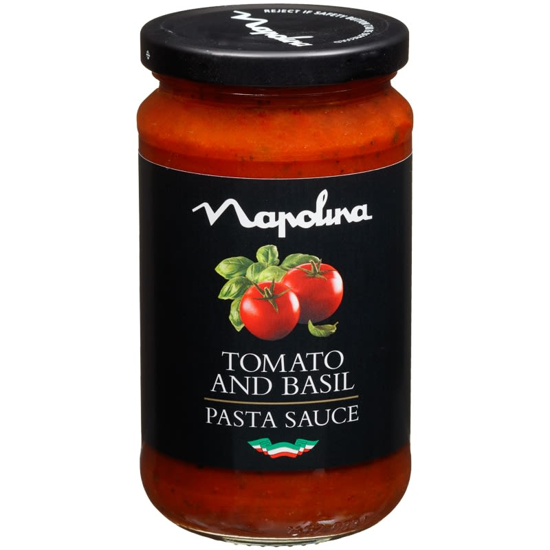 napolina pasta sauce 440g tomato basil sauces b m. Black Bedroom Furniture Sets. Home Design Ideas