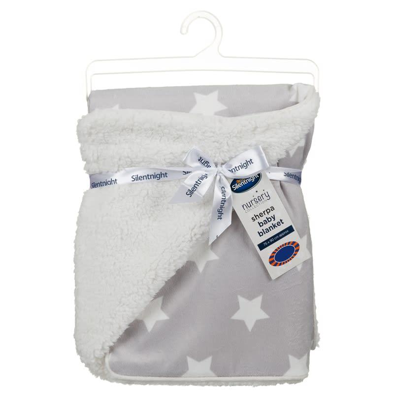 Silentnight Sherpa Baby Blanket Baby Bedding B Amp M