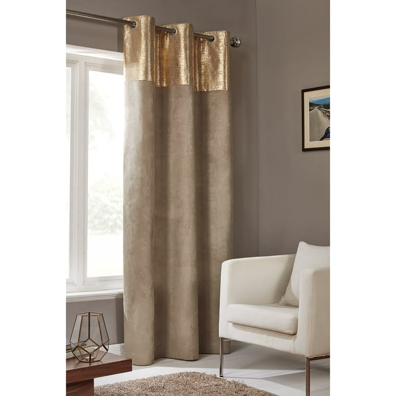 Etched Metallic Faux Suede Panel 54 X 86 Quot Curtains B Amp M