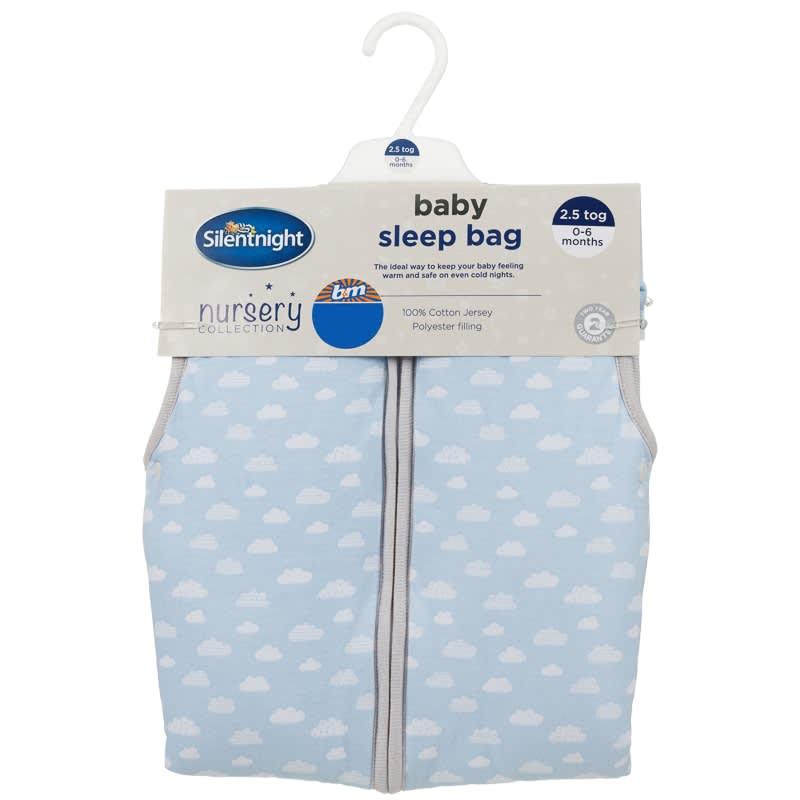 Silentnight Printed Baby Sleeping Bag Blue Bedding B Amp M