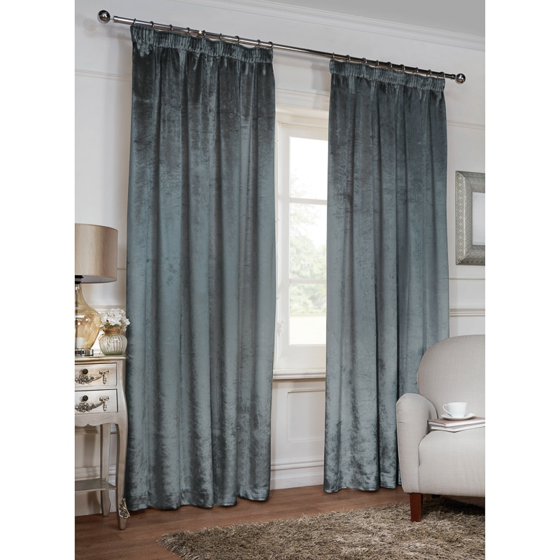 versailles crushed velvet 3 tape fully lined curtain 66 x. Black Bedroom Furniture Sets. Home Design Ideas