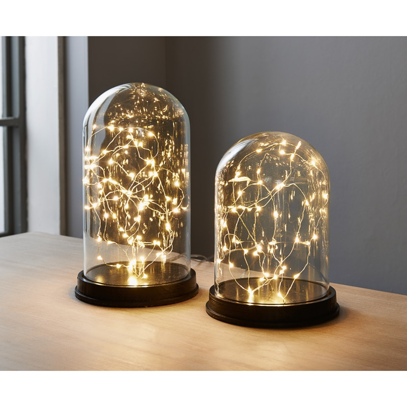 Led Cloche Lights 2pk Black Home Lighting B Amp M