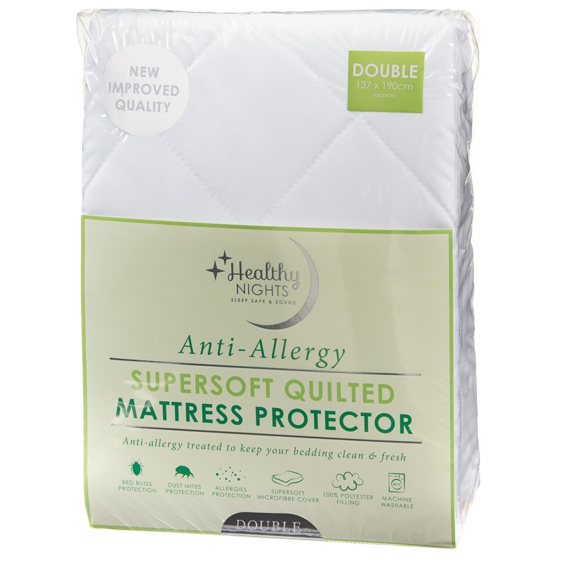 Anti Allergy Supersoft Quilted Mattress Protector Double B Amp M