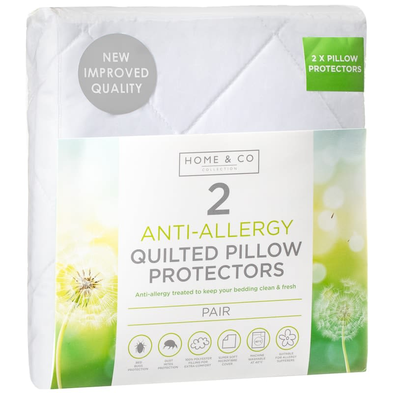 Anti-Allergy Supersoft Quilted Pillow Protectors 2pk
