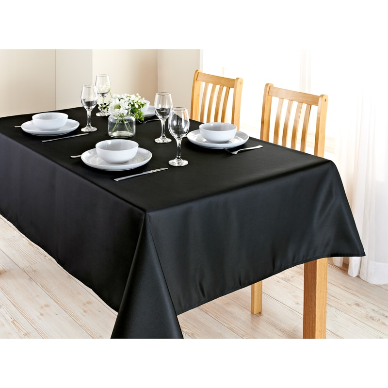 Essentials Tablecloth 132 x 230cm - Charcoal