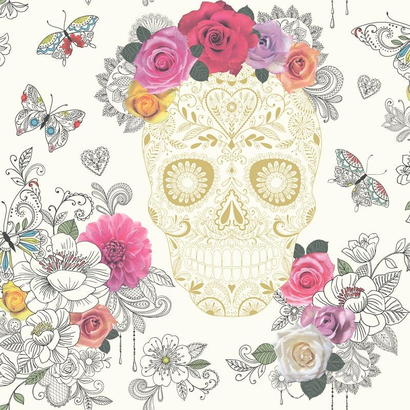 Rasch Sugar Skulls Wallpaper Decorating B Amp M Stores