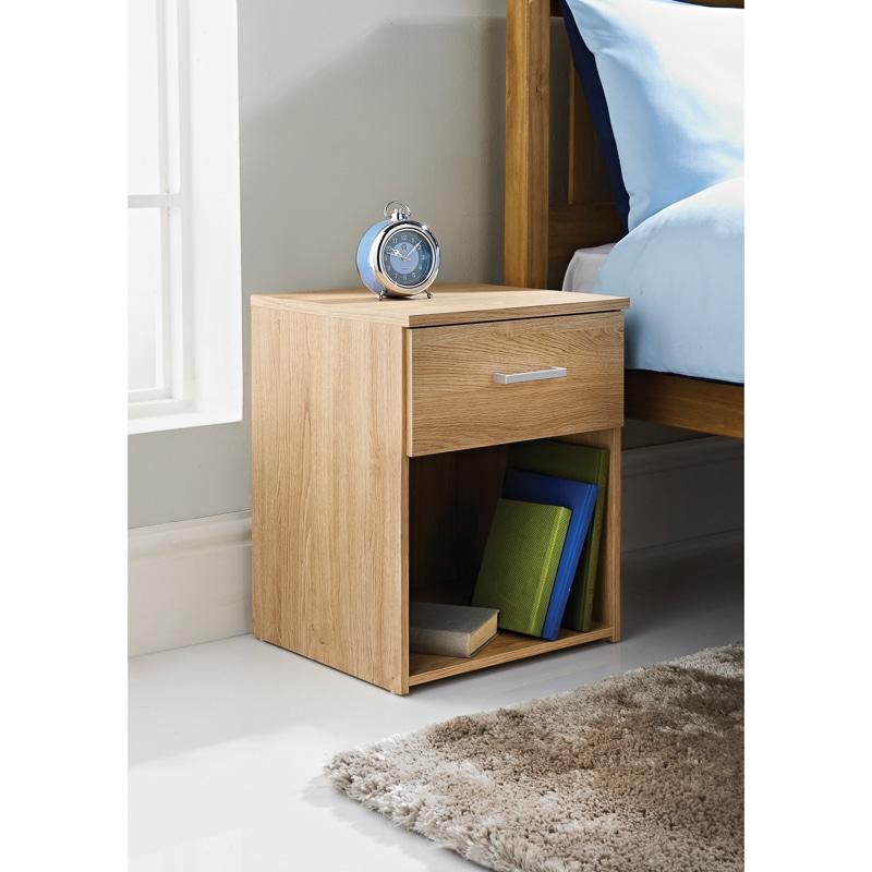 Hansberg bedside cabinet bedroom furniture b m for B m bedroom furniture
