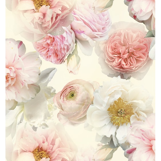 Arthouse Diamond Bloom Floral Wallpaper Blush Decorating
