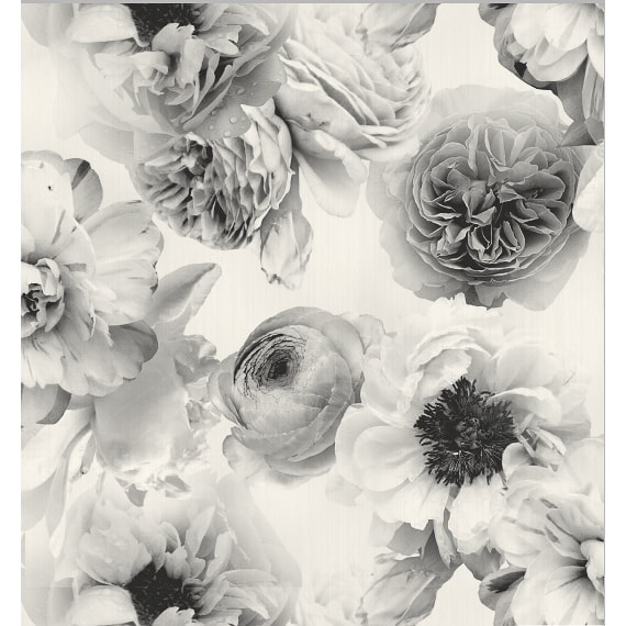 Arthouse Diamond Bloom Floral Wallpaper Mono Decorating
