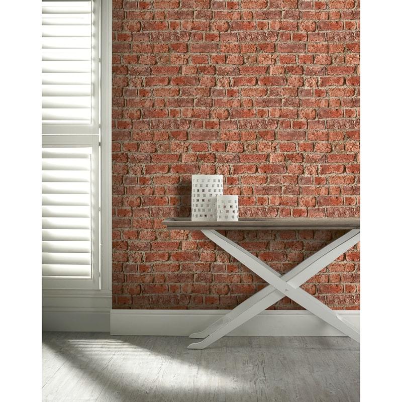 Arthouse Urban Brick Wallpaper Red Decorating Bm