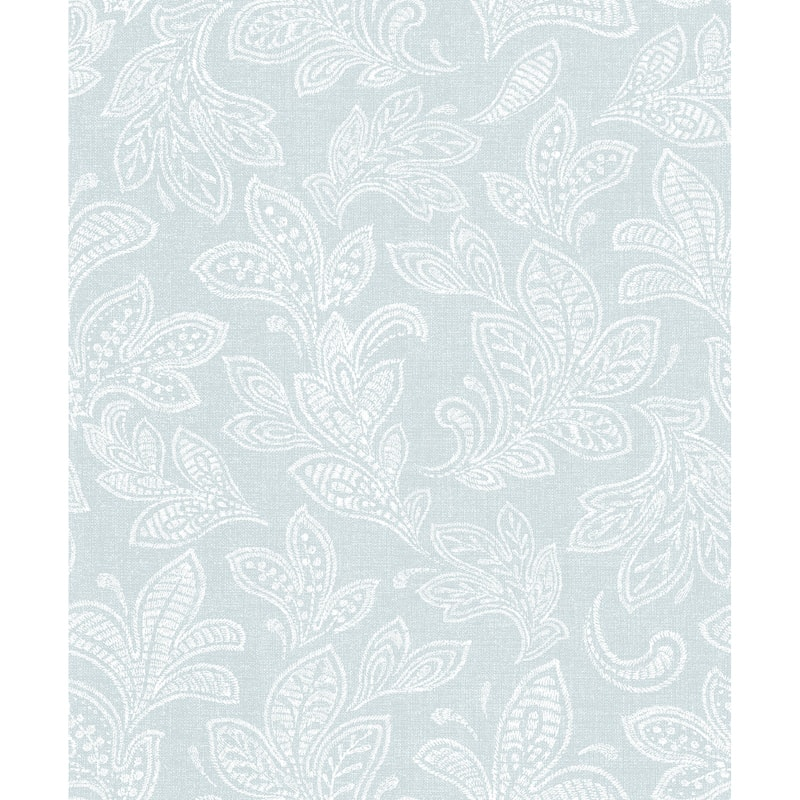 Crown Calico Leaf Wallpaper Duck Egg Decorating B Amp M