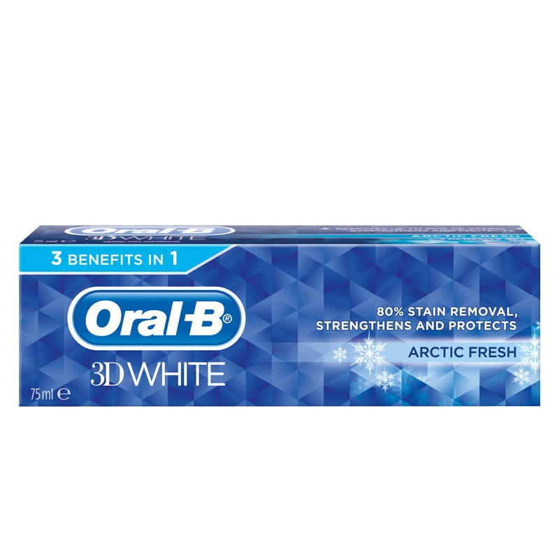 Oral B 3d White Toothpaste Arctic Fresh 75ml Dental Care