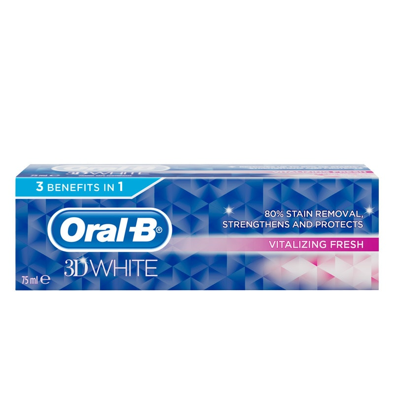 Oral B 3d White Toothpaste Vitalising Fresh 75ml